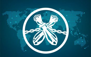 menschenhandel vs. blockchain globale identität