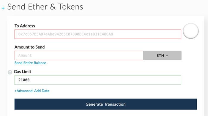 myetherwallet anleitung tutorial ethereum blockchain Ether